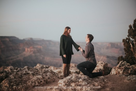 Grand Canyon Wedding Packages Winter Engagement