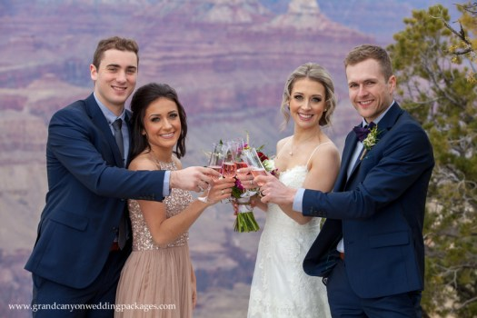 Grand Canyon Wedding Packages Winter Elopement at Grandeur Point