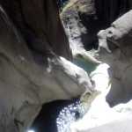 canyoning dans Fleur Jaune, deuxieme rappel