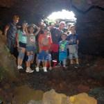 Tunnel de lave à la Réunion
