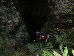 Une des entrées du tunnel du Mapou
