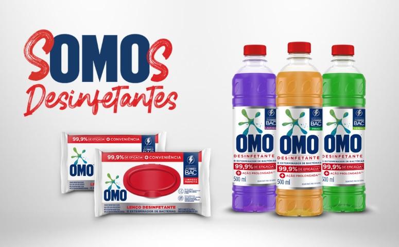 OMO apresenta nova linha de desinfetantes para cuidado completo da casa