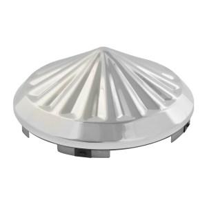 "Chrome Plated ⁷∕₁₆"" Pinwheel Universal Front Hub Cap"