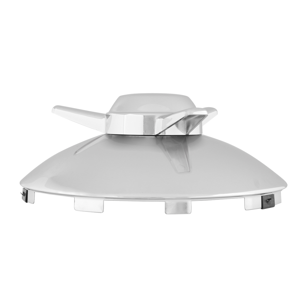 "Universal ⁷∕₁₆"" Front Hub Caps Notched with L/H Swept Wing Spinner - Side View"