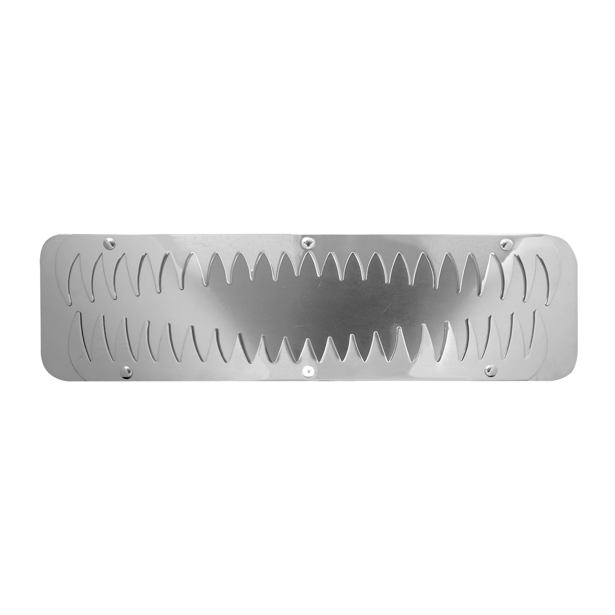 Stainless Steel Bottom Shark Teeth Style Mud Flap Plate w/o Backing Plate