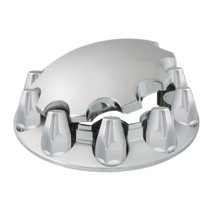 Chrome ABS Plastic with Standard Hub Cap with Classic Screw on Nut Covers