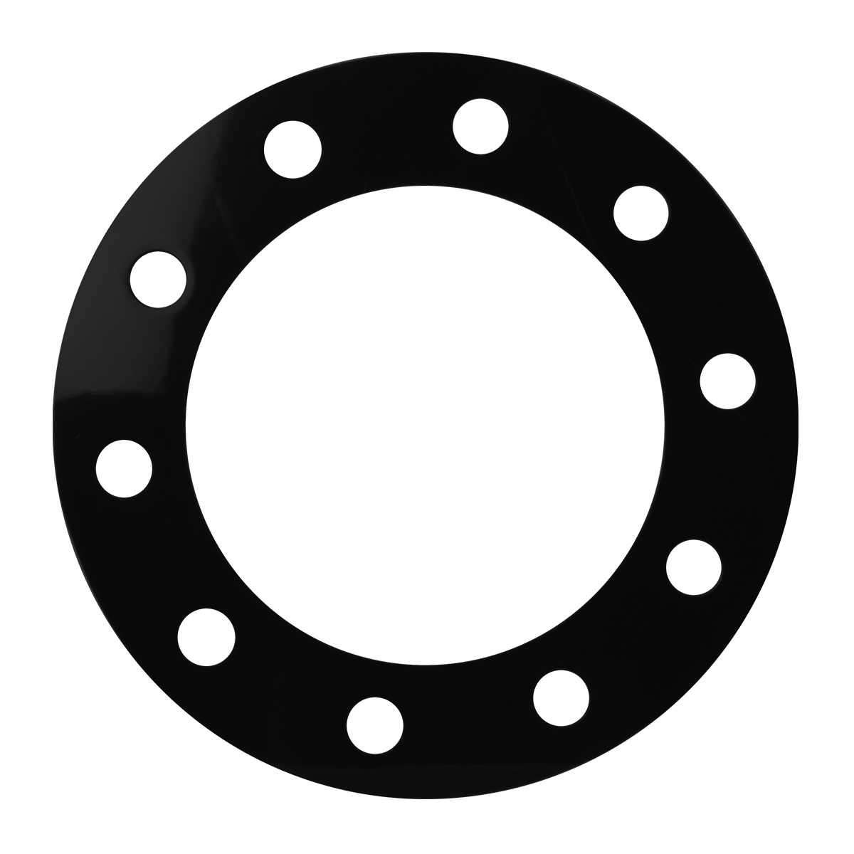 Black Rim Protector with 10 Ring Holes