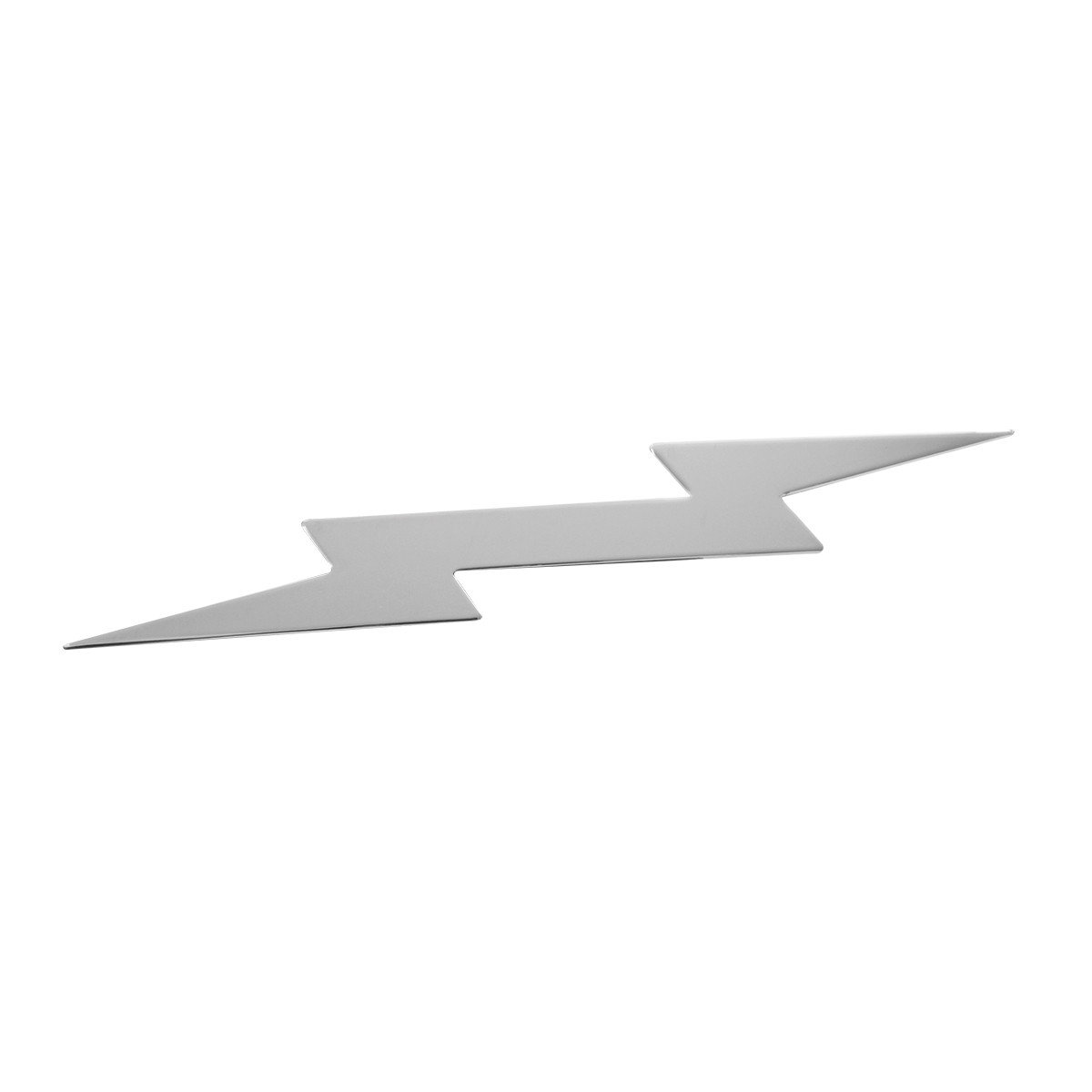 Chrome Plated Steel Lightning Bolt Cut Out