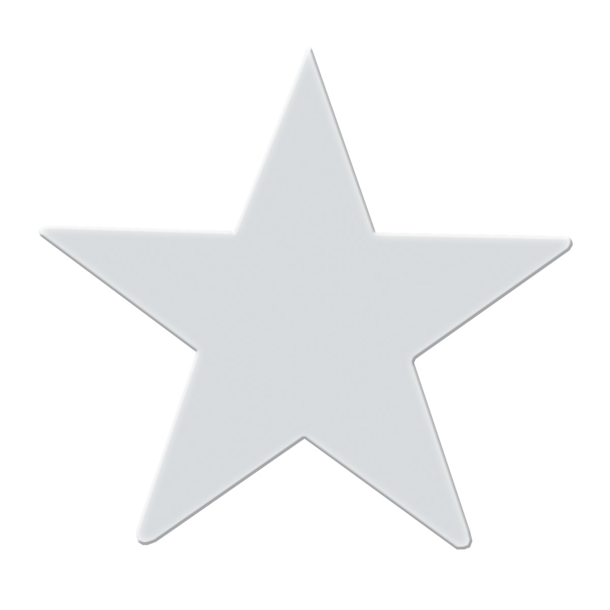"Chrome Plated Steel Star Cut Out - 3"" Dia."