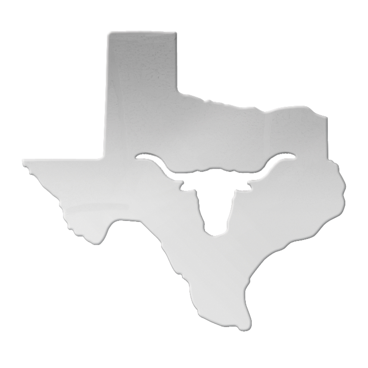 Texas State Cut Out with Long Horn – Large