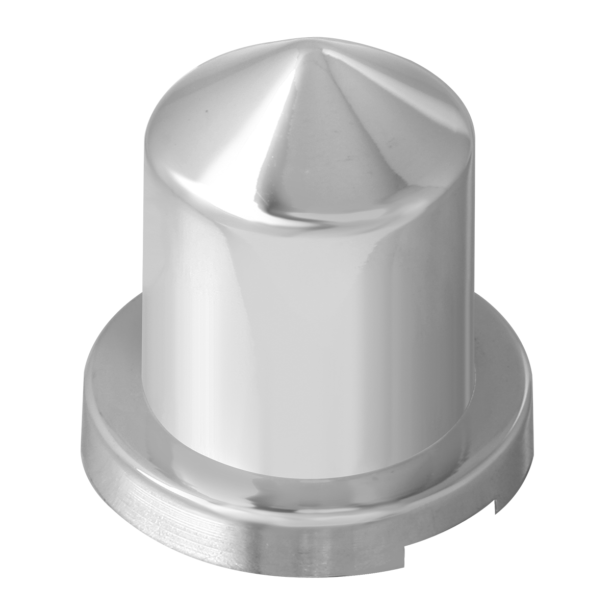 "Chrome Plastic ⅝"" & 15 mm Push-On Multi-Size Round Pointed Lug Nut Cover"