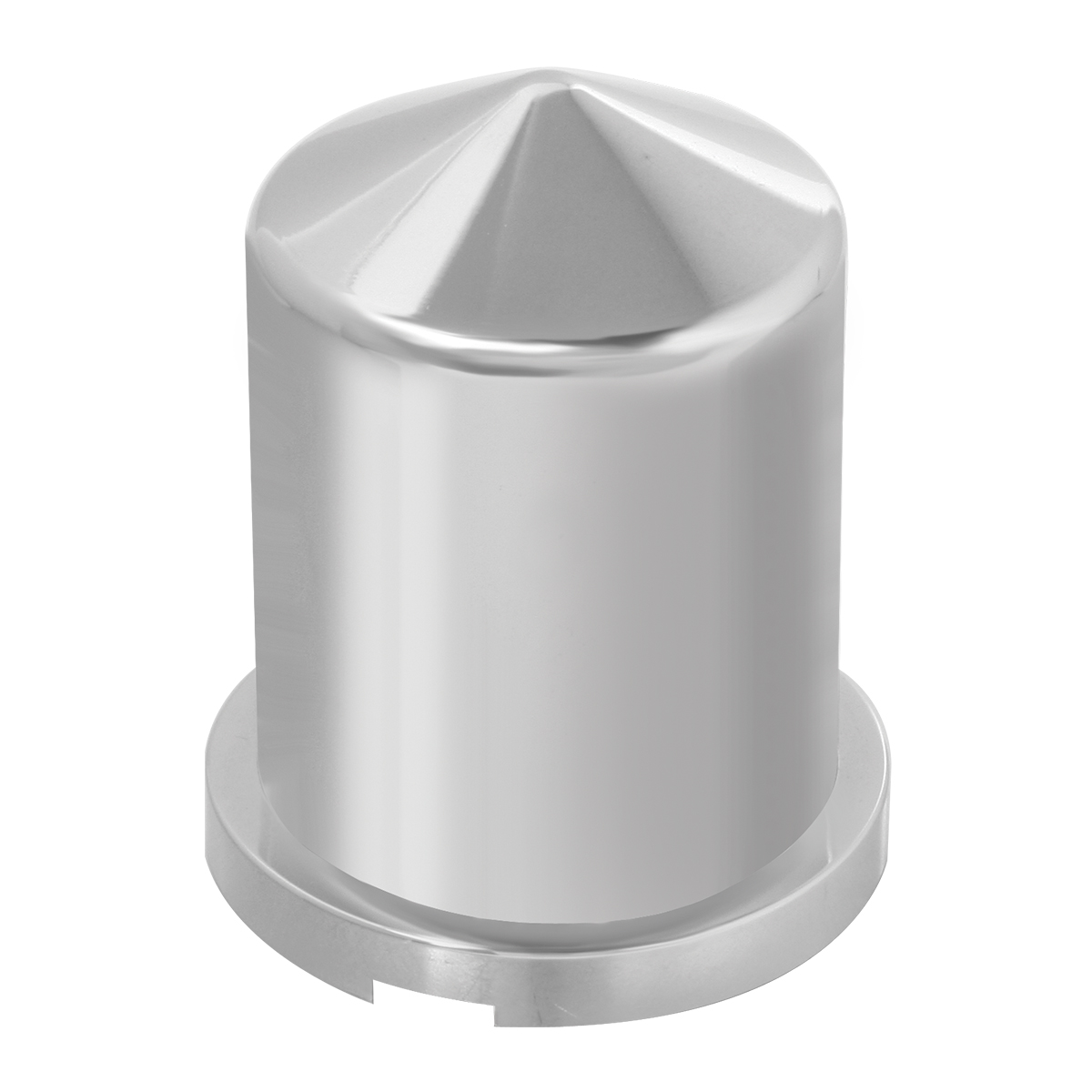 "Chrome Plastic 1 ¹∕₁₆"" & 1 ⅛"" Push-On Multi-Size Round Pointed Lug Nut Cover"