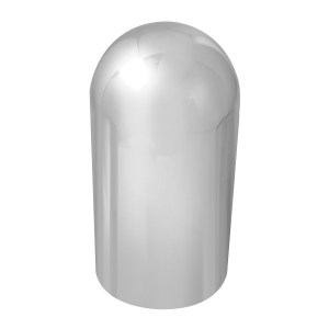 Chrome Plastic 33 mm Screw-On Full Moon Lug Cover