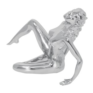 Chrome Die Cast Posing Lady Hood Ornament