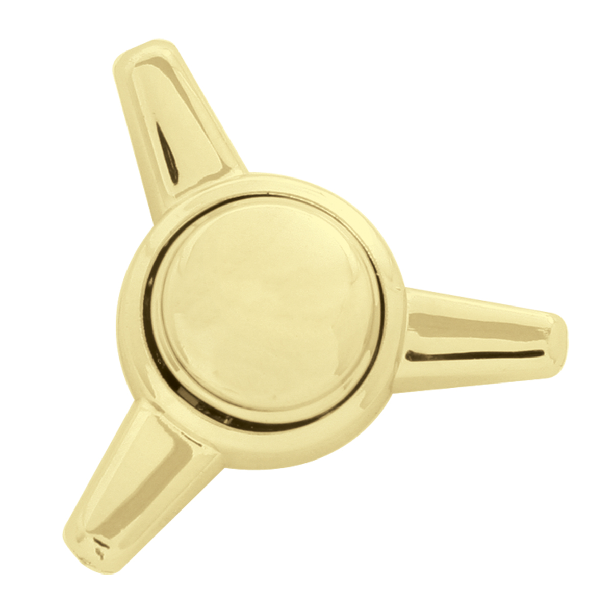 Brass Plated Screw Head Covers in Spinner Snap-On Style