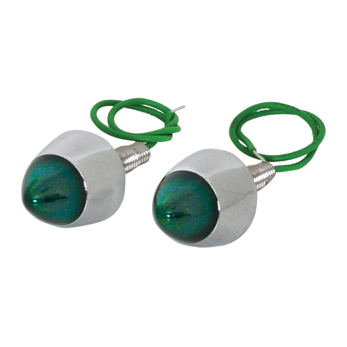 LED Lighted Bullet Fastener Set of 2 - Green
