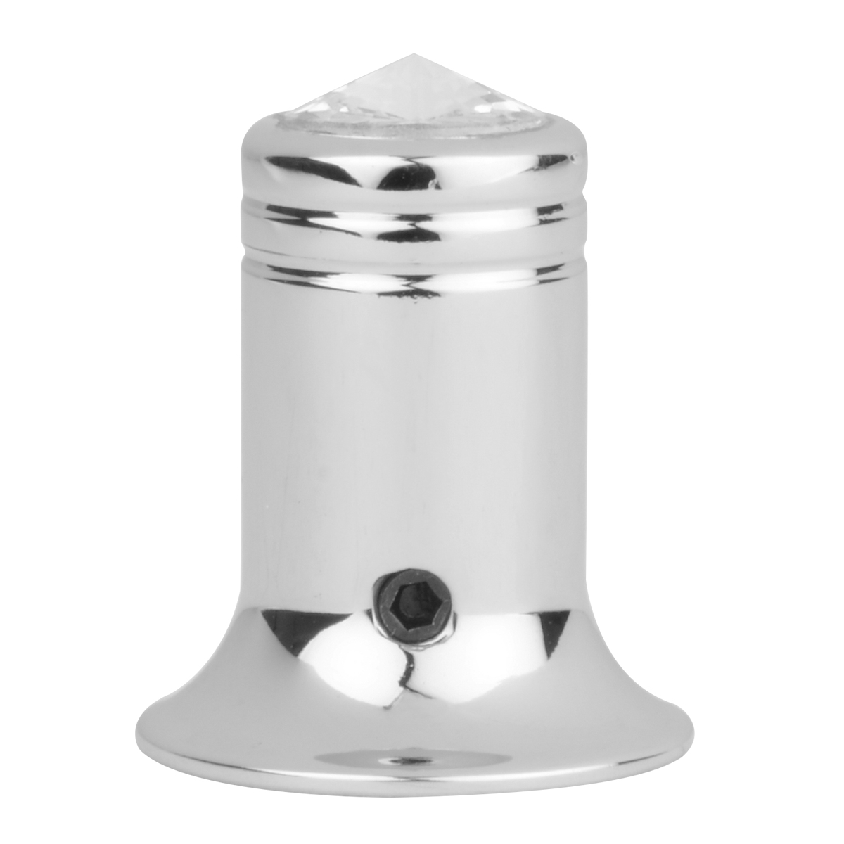 Chrome Plated Aluminum C.B. Channel Knobs with Crystal on Top