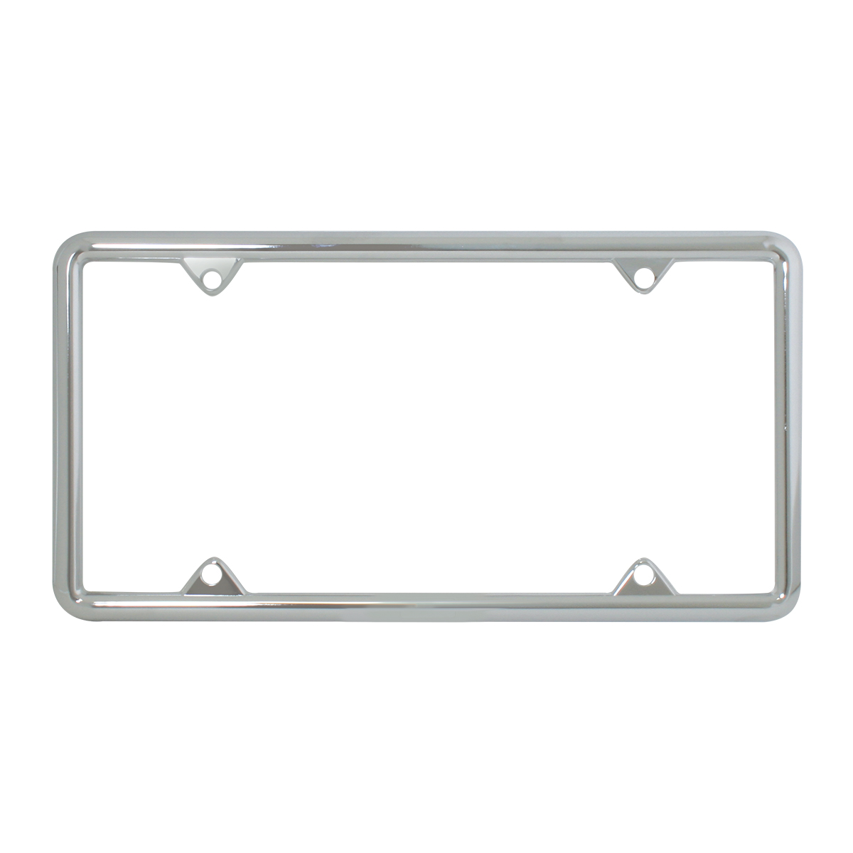 60061 Economic Chrome Zinc Classic 4-Hole License Plate Frames