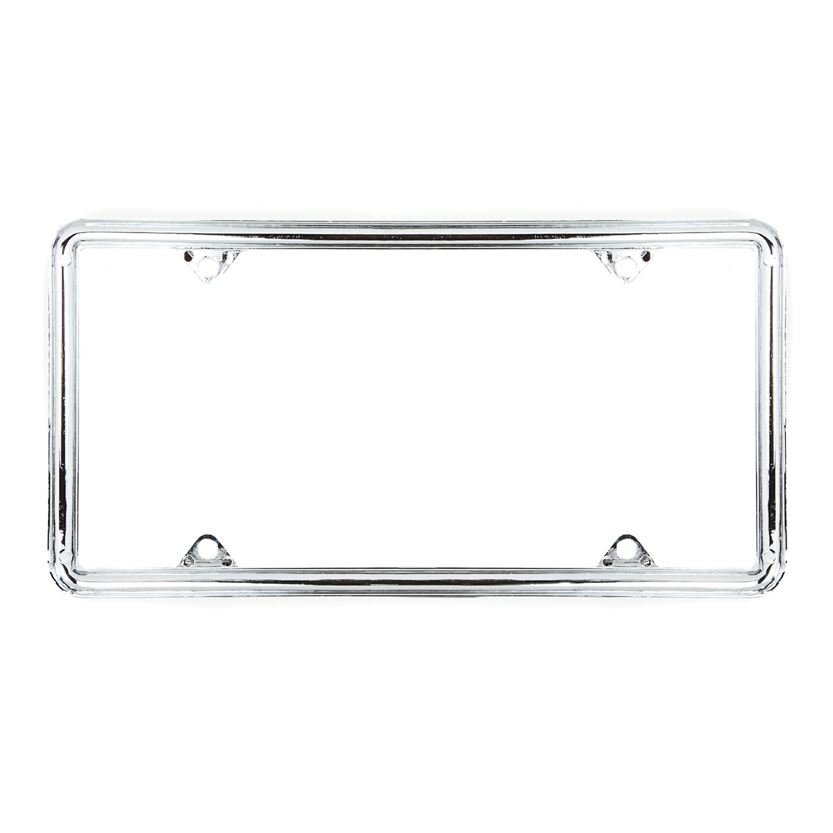 60061 Economic Chrome Zinc Classic 4-Hole License Plate Frames - Back View