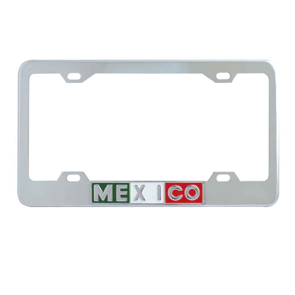 Mexico Script License Plate Frames With 4 Holes Grand