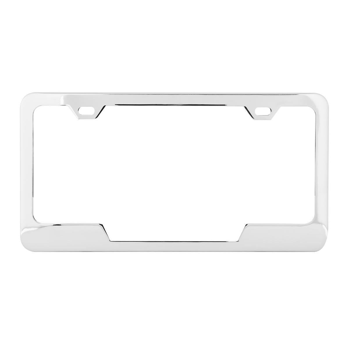 60404 Plain 2-Hole License Plate Frames with Center Cut