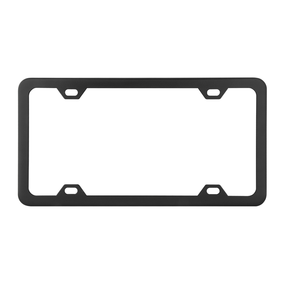 60414 Plain Matte Black 4 Hole License Plate Frame