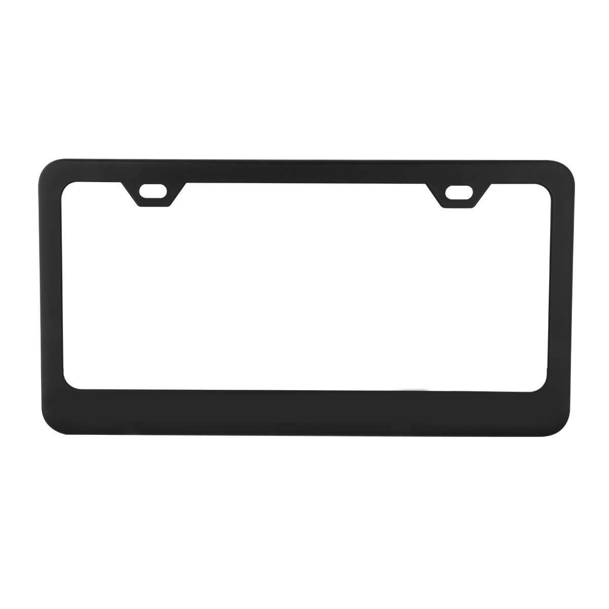 60439 Flat/Matte Plain Black 2 Hole License Plate Frame