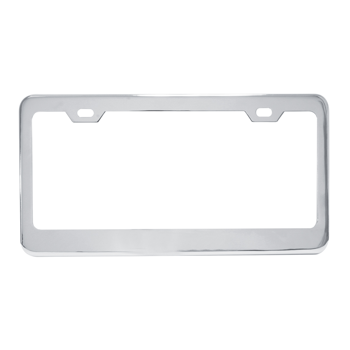 60440 Plain Chrome Plated Steel 2 Hole License Plate Frame