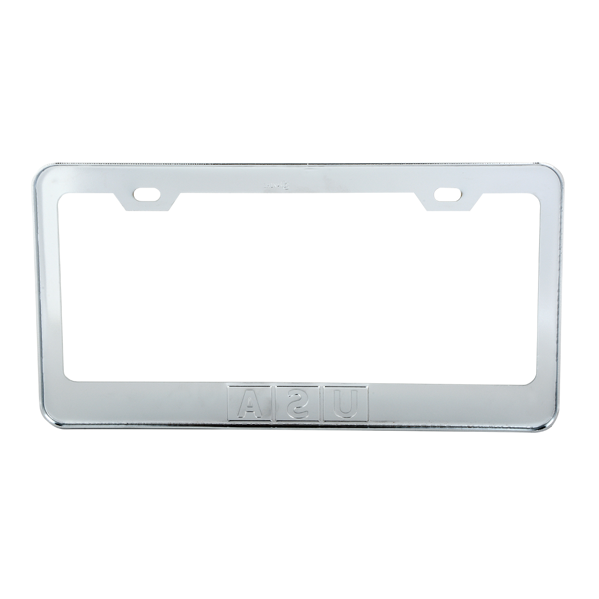 Chrome Plated Steel USA License Plate Frame - Back View