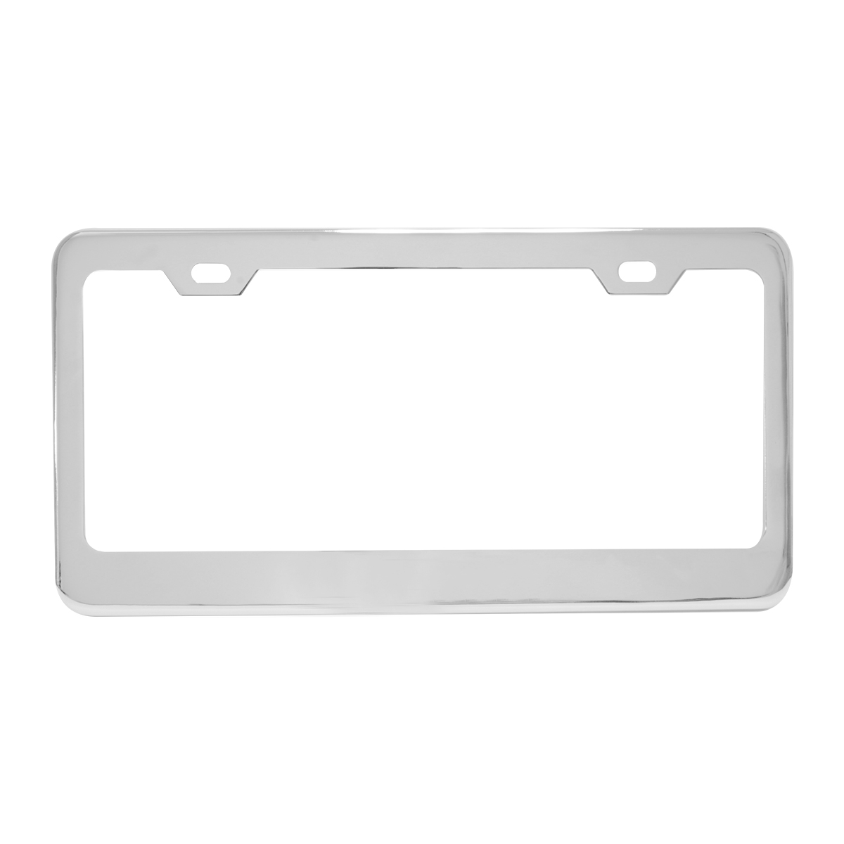Plain Stainless Steel 2 Hole License Plate Frame