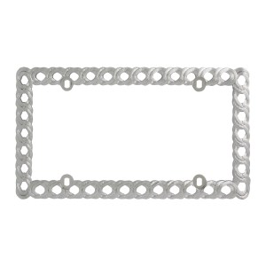 Chrome Plastic Twisted Rope License Plate Frame