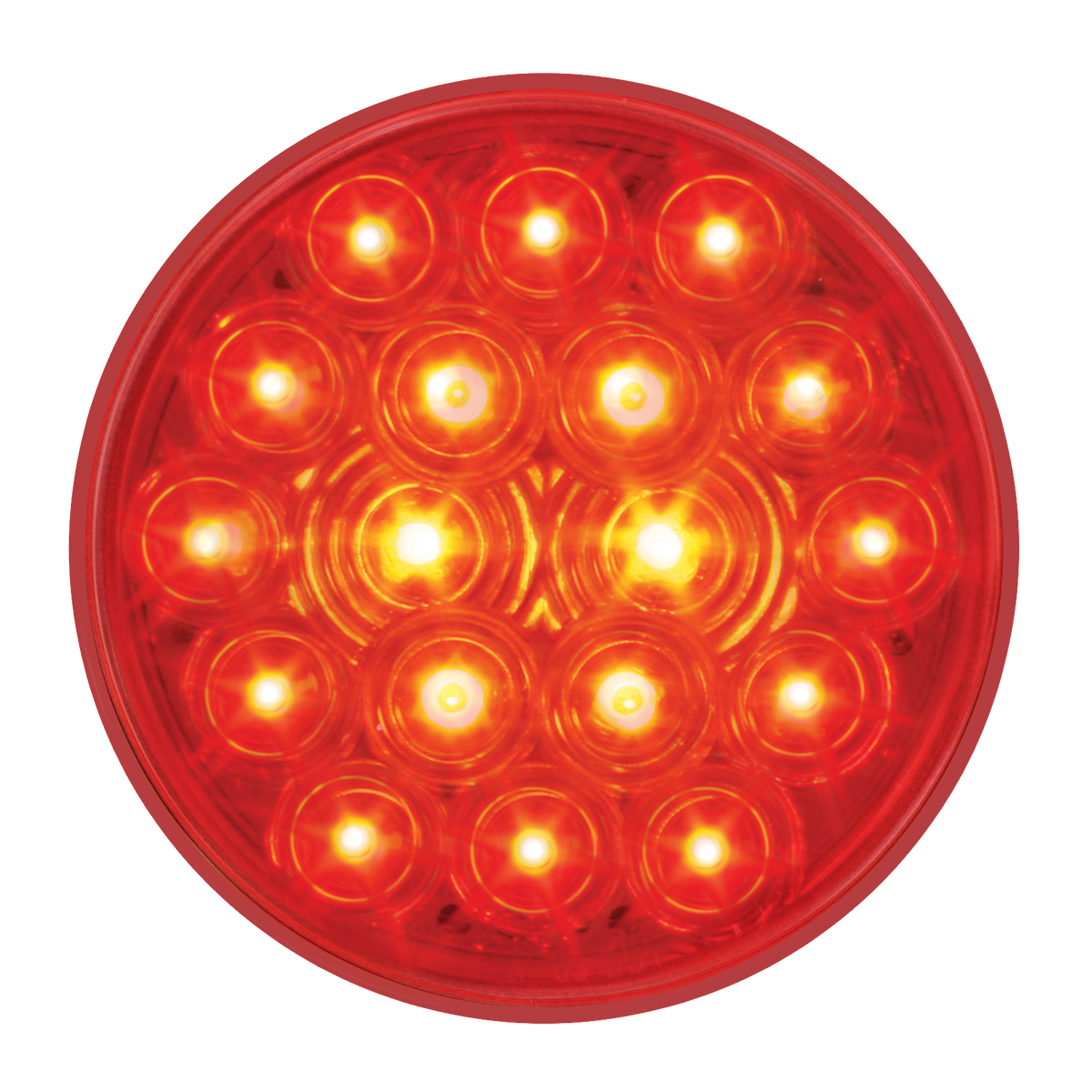"#76452 4"" Round Fleet LED Flat Red/Red Light"
