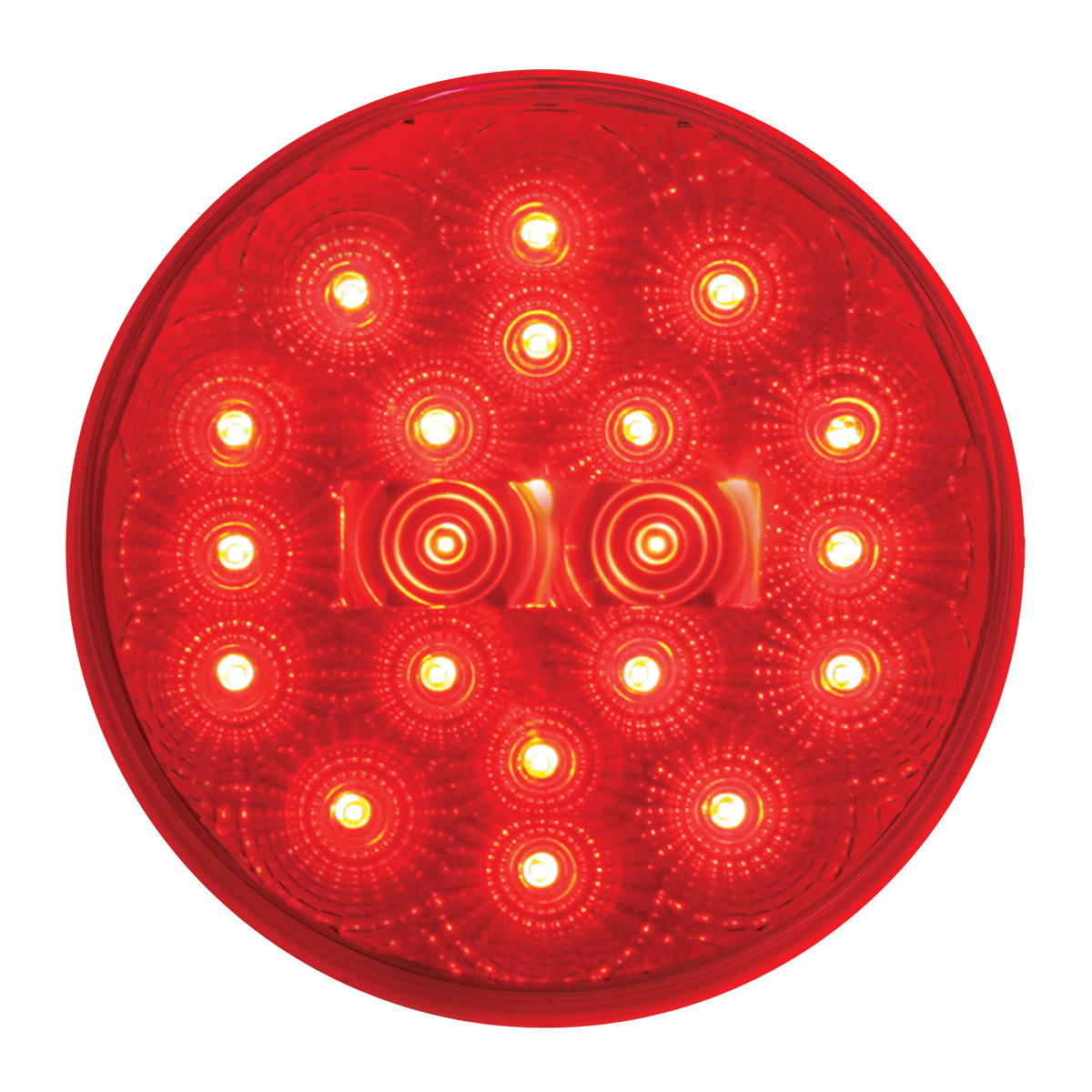 "#77093 4"" Round Fleet LED Flat Red/Clear Light"