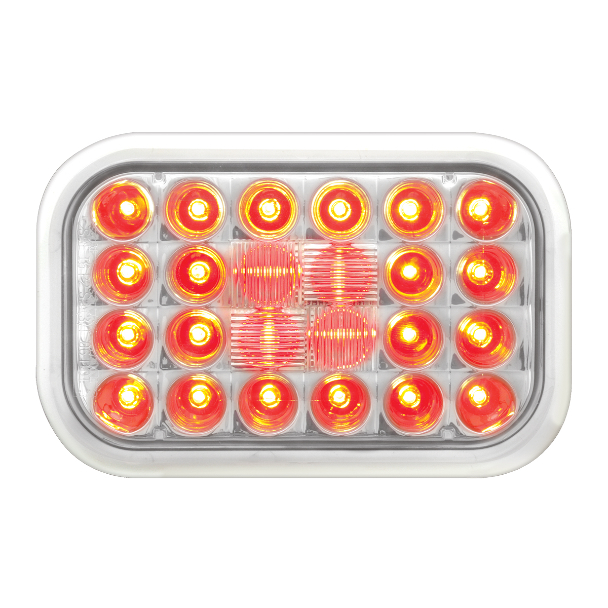 #77183 Pearl LED Flat - Red/Clear