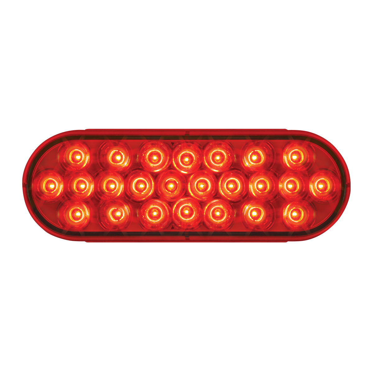 #78233 Oval Pearl LED Flat Red/Red Light - Slanted