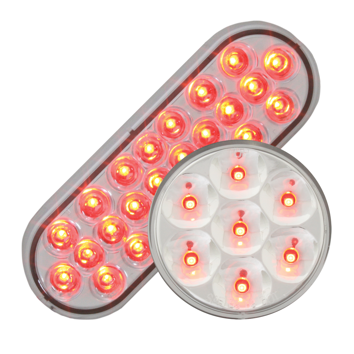 #78234/#76583 Pearl LED Red/Clear - Flat