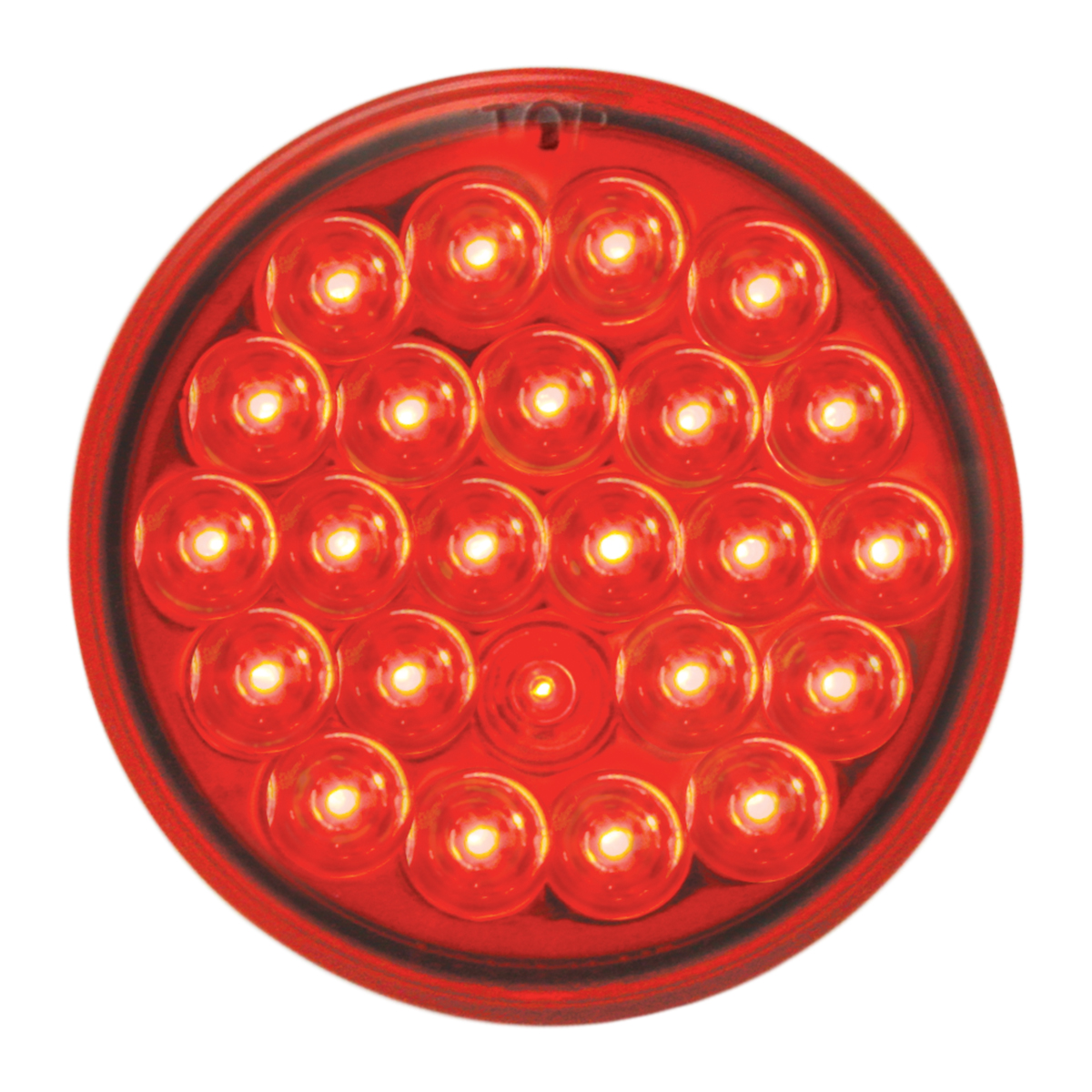 "#78273 4"" Round Pearl LED Flat Red/Red Light"
