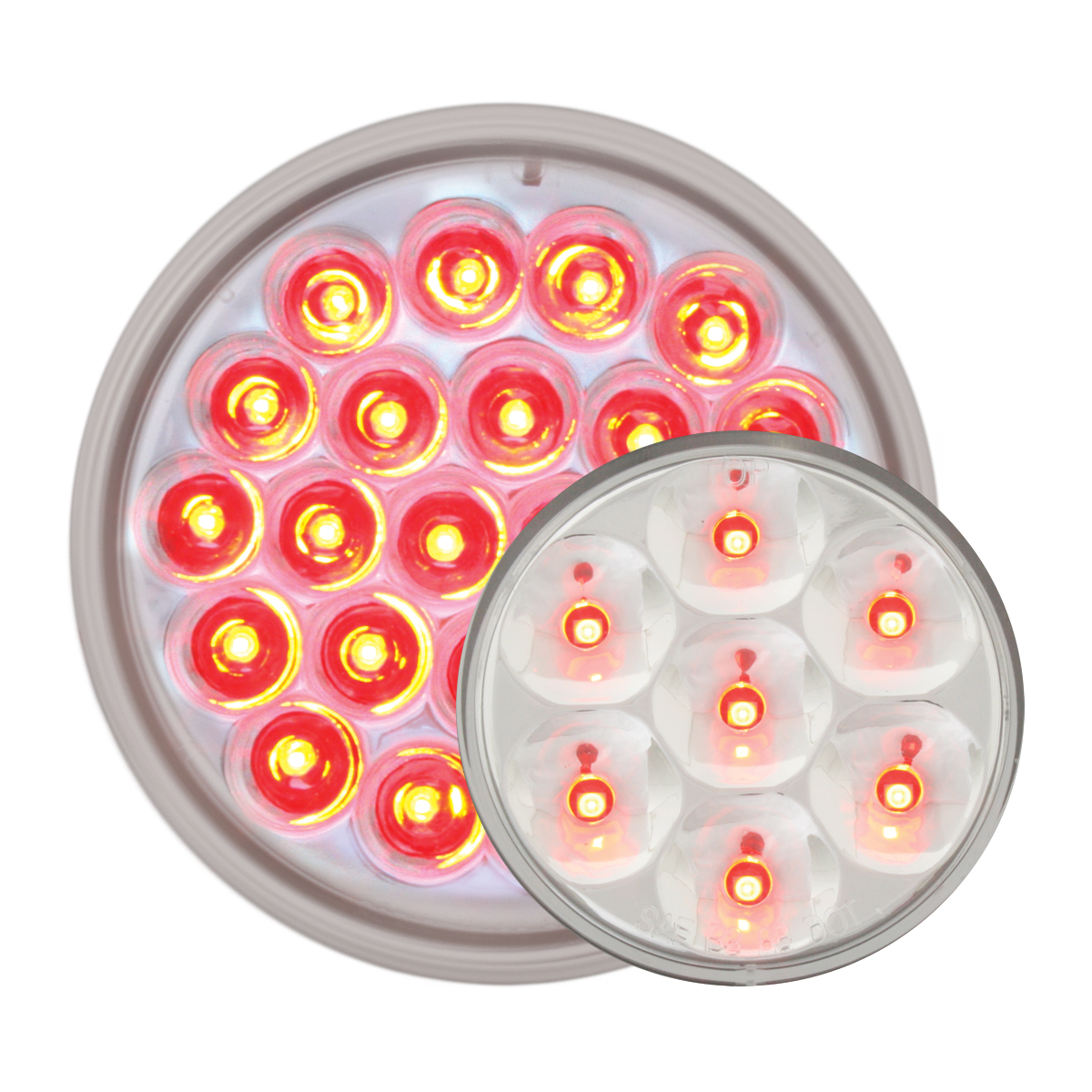 #78274/#76583 Pearl LED Flat - Red/Clear