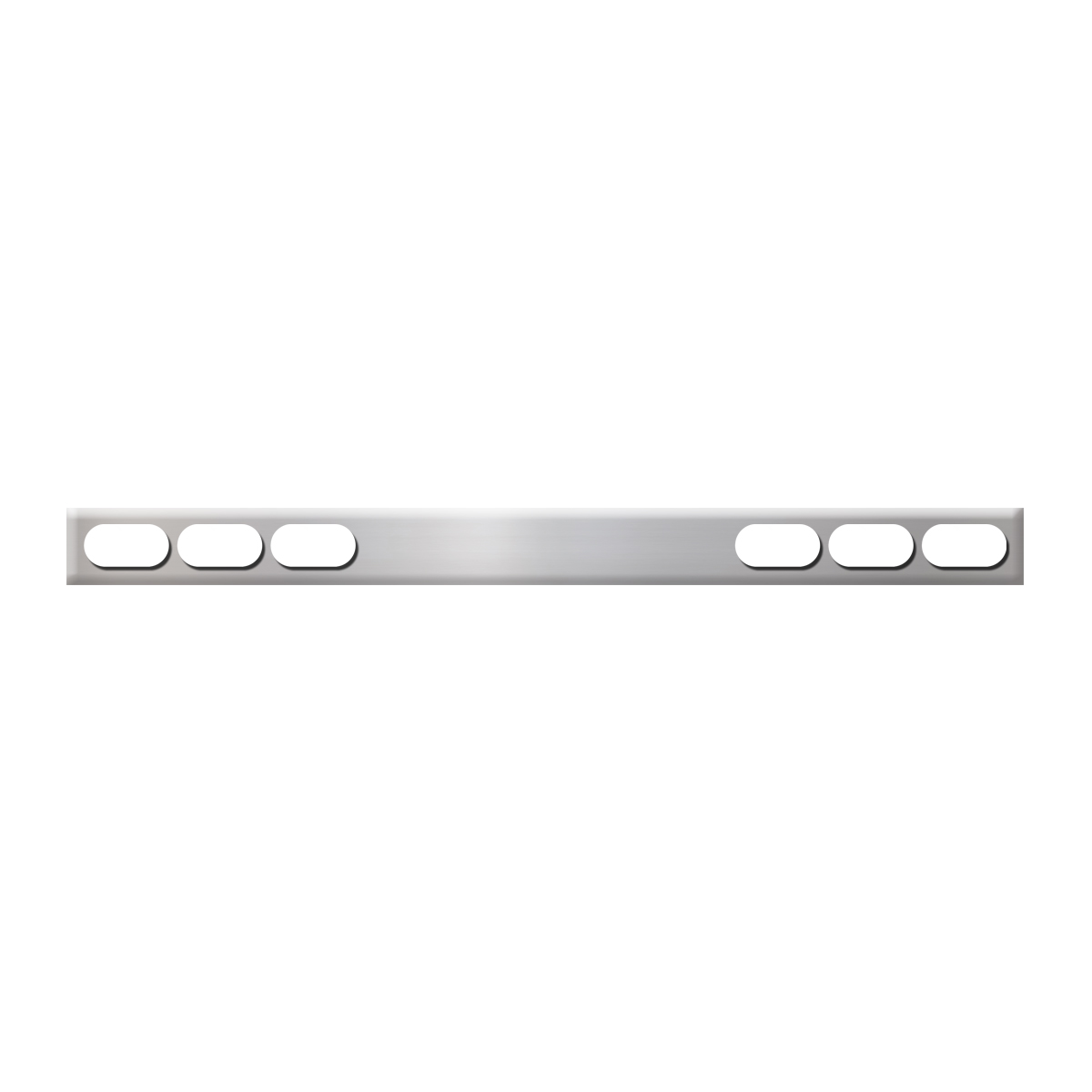 #80135 Chrome Plated Steel One Piece Rear Light Bars Only