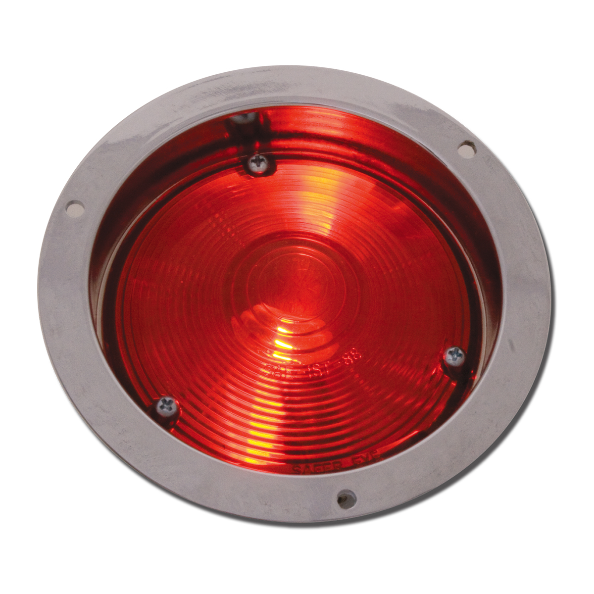 "#80370 4"" Round Incandescent C.R. Housing Red/Red Light"