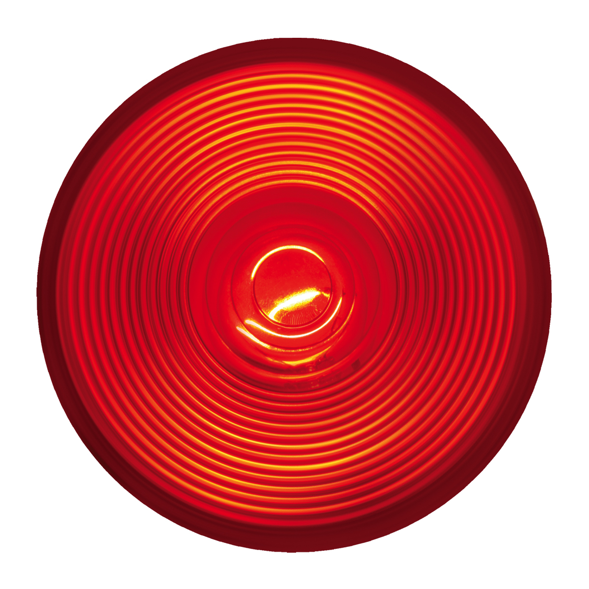 """#80471 - 4"""" Round Incandescent Flat Red/Red Light"""