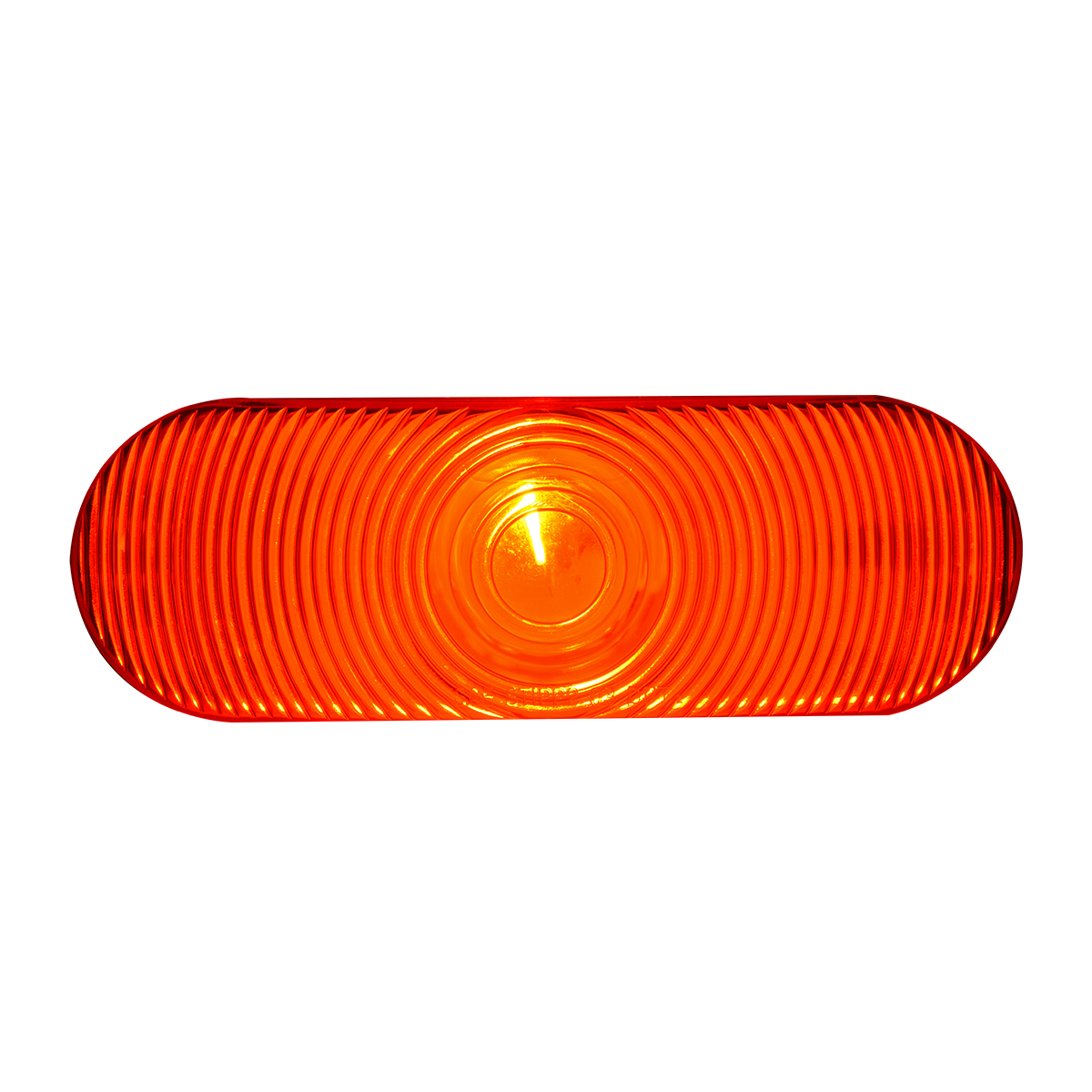 #80805 - Oval Incandescent Flat Red/Red Light - Slanted