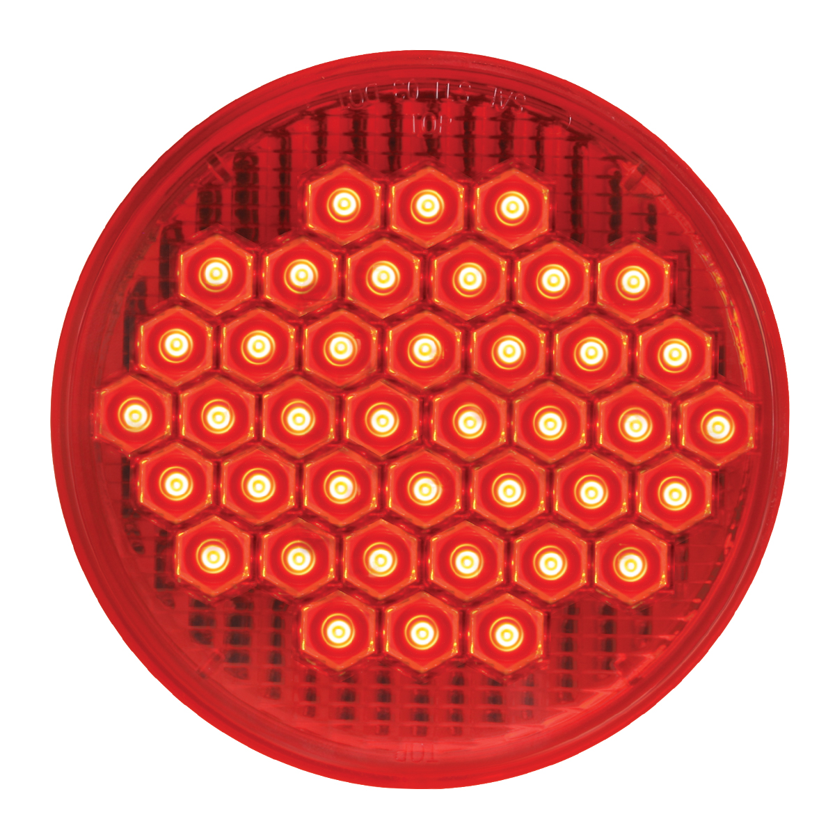 """#87700 4"""" Round High Count LED Flat - Red/Red"""