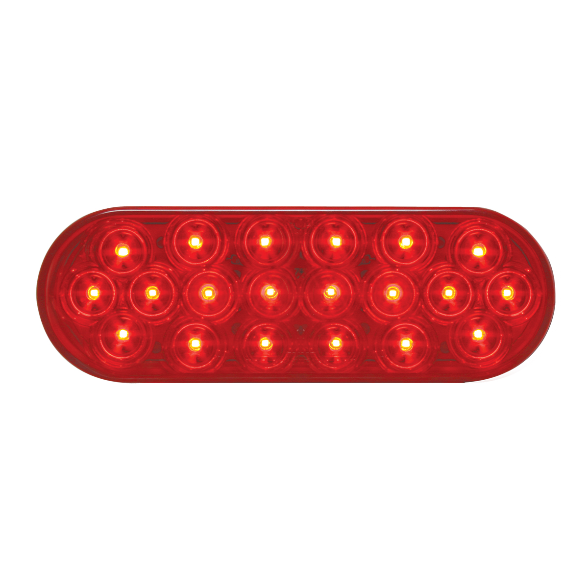 #87721 Oval Sealed Fleet LED Flat Red/Red Lights