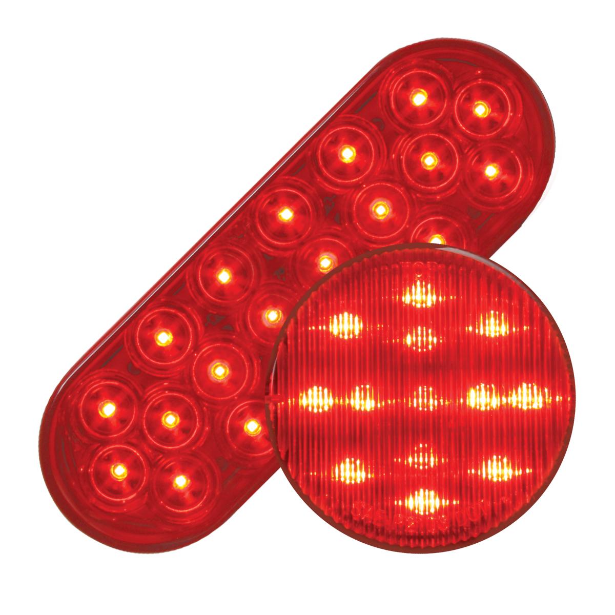 #87721/#79311 Fleet LED Flat - Red/Red
