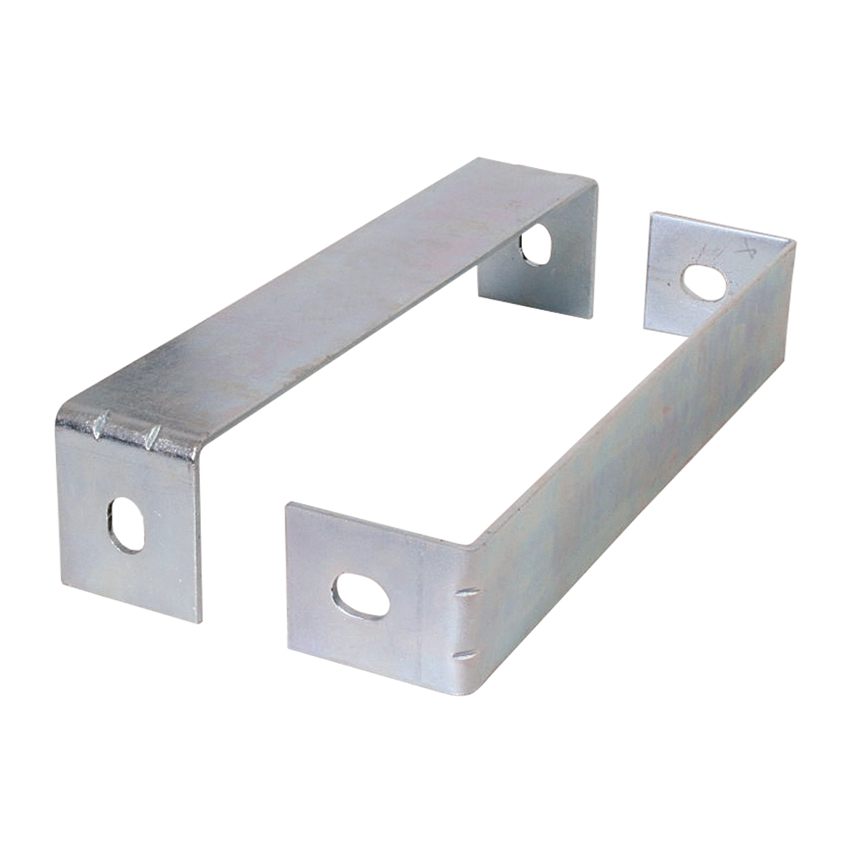 Chrome Plated Steel Rear Center Panel with Backing Plate Only - Brackets
