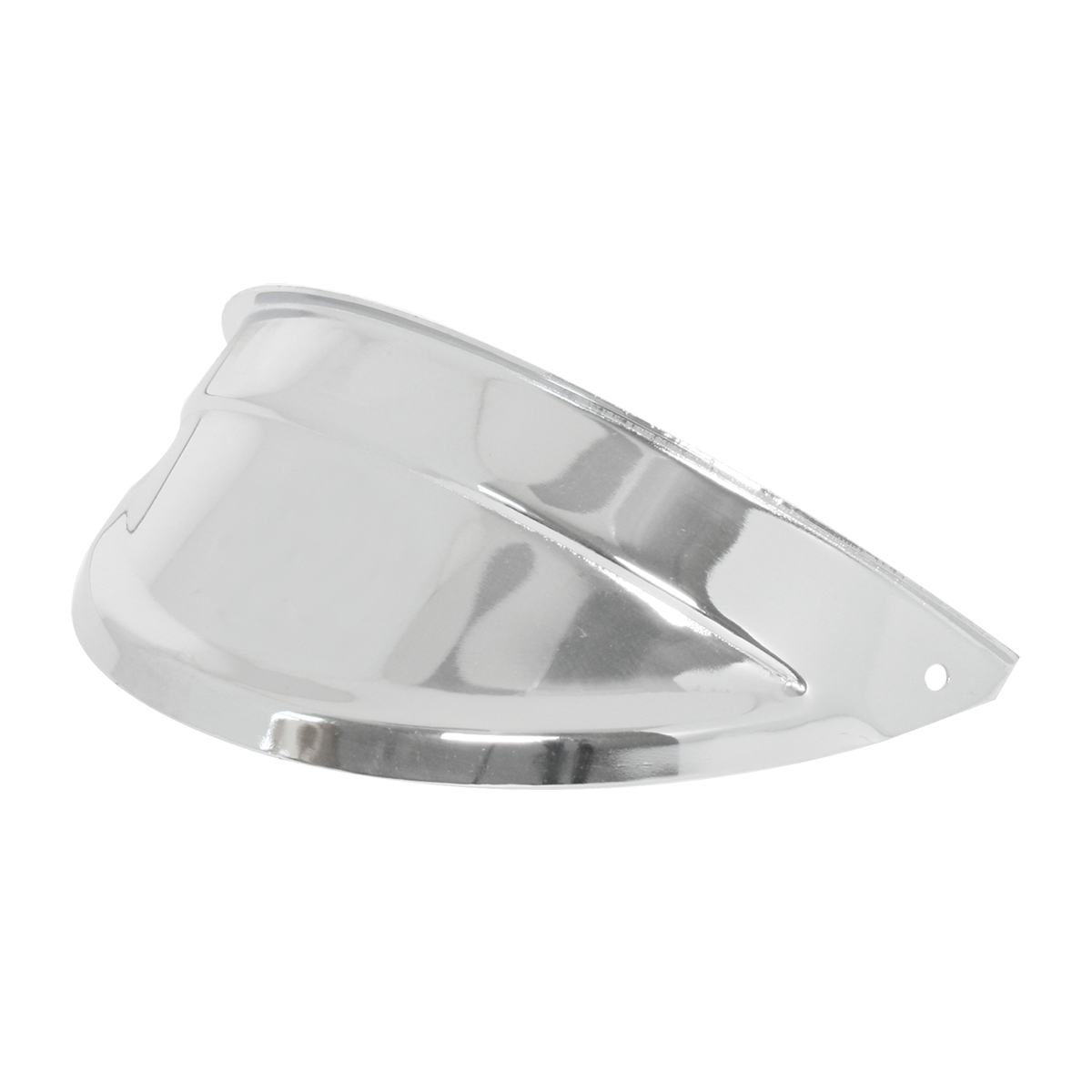 #92470/#70568 Chrome Plated Steel Headlight Visors w/o Hole in Center