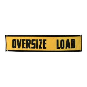 """Vinyl """"Oversize Load"""" Sign"""