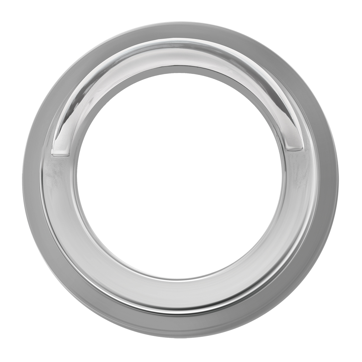 Chrome Plastic Gauge Cover w/ Visor for FL