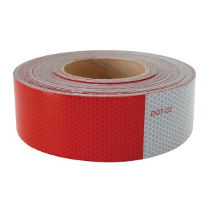 """#92291 11"""" Red / 7"""" White DOT-C2 Conspicuity Tape - 18"""" Strips, Set of 4"""